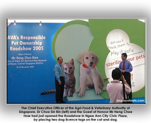 2nd yearly responsible pet ownership road show by AVA, Singapore. Toa Payoh Vets