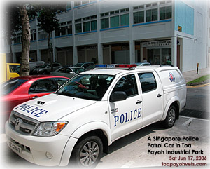 Police Investigation in Toa Payoh Industrial Park, Singapore Jun 17, 2006, Sat.