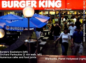 Singapore Burger King in 2001. No more in 2007. Toa Payoh Vets