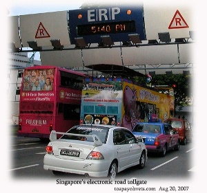 Singapore electronic tollgate. Toa Payoh Vets