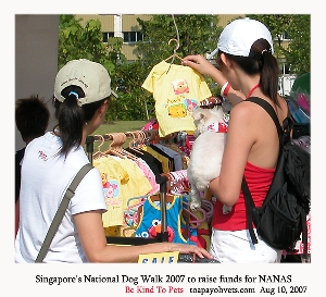 Singapore's National Dog Walk 2007 to raise funds for NANAS. Toa Payoh Vets
