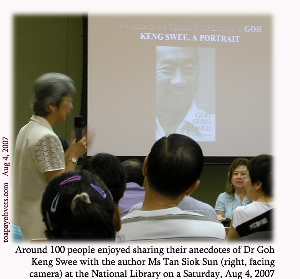 National Library invited the author of Goh Keng Swee - A Portrait to give a talk. Toa Payoh Vets