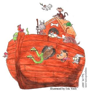Singapore's Eric Yeoh's Illustration of Noah's Ark. Toa Payoh Vets