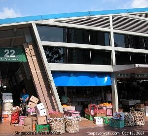 Singapore's Wet Market at Toa Payoh Lor 7. Toa Payoh Vets