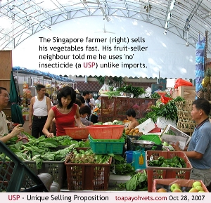 USP - No or little insecticide vegetables- Singapore Farmer sold out fast. Toa Payoh Vets.