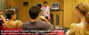 Illegal trafficking of women and children discussion in the Picturehouse. Toa Payoh Vets