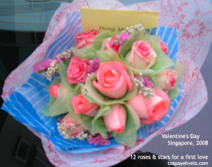 First love and valentine roses from a young man. Toa Payoh Vets