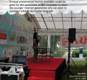 ACRES volunteer gave a long excellent lecture about wildlife conservation. Toa Payoh Vets