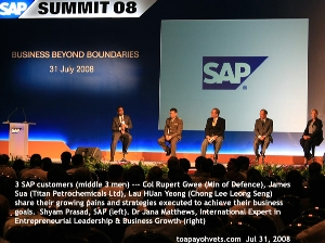 SAP Summit 2008, Singapore, 1,500 people attended. Toa Payoh Vet