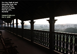 Living in The Governor's House, Pyin Oo Lwin, is a historical experience for tourists. Toa Payoh Vets