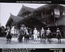 Original Governor's House, Pyin Oo Lwin, Myanmar. Toa Payoh Vets