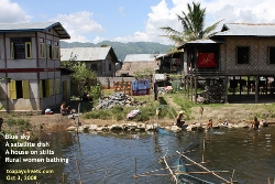 Myanmar's Lake Inle - rural women bathing, washing clothes. Toa Payoh Vets