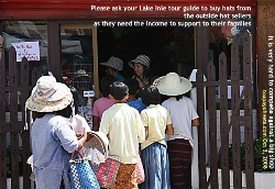 Myanmar's Lake Inle - hat sellers need to earn an income. Toa Payoh Vets