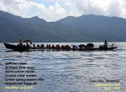Myanmar, Lake Inle, Long boat, boy monks, Toa Payoh Vets