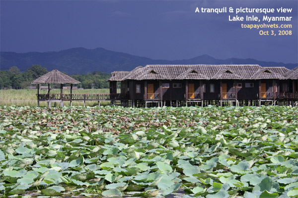 Myanmar, Inle Lake Golden Island Cottages, visit in Oct 2008, designtravelpl.com, singapore tourists first time