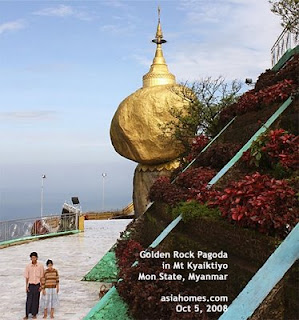 Golden Rock, Myanmar Buddhism, designtravel organises customised tours to Myanmar from Singapore