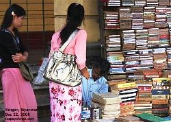 Dec 22, 2008. Yangon, Myanmar. Book Seller. Toa Payoh Vets